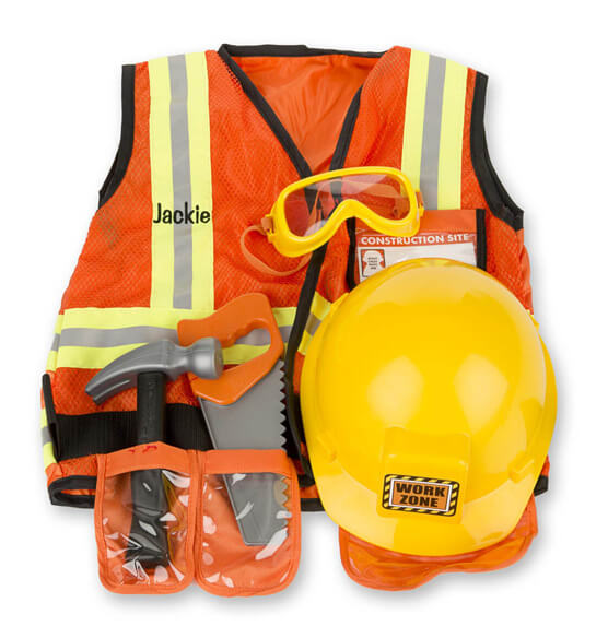 Melissa & Doug® Personalized Construction Worker Costume Set - View 1