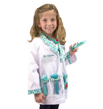 Toys - Melissa & Doug® Personalized Doctor Costume Set