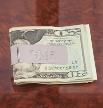 Gifts for Him - Personalized Spring Money Clip
