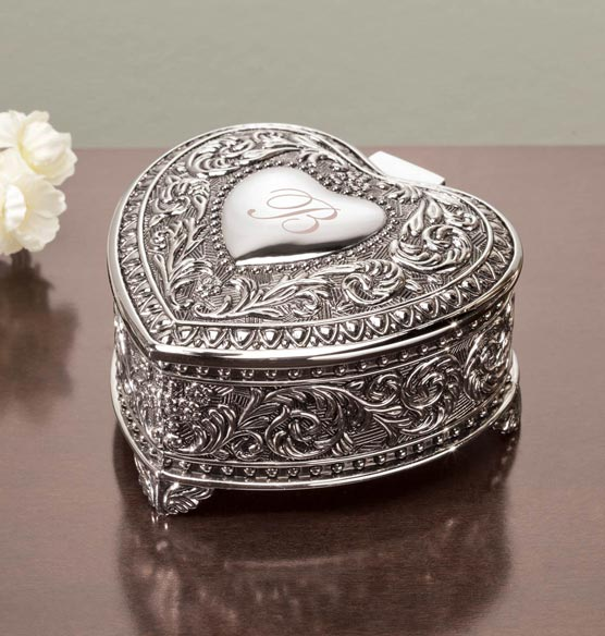 Personalized Antique Heart Keepsake Box