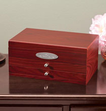 Plain Mahogany 2 Drawer Jewelry Box