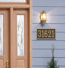 Personalized Outdoor Living - Fast & Easy Rectangle House Number Plaque