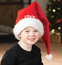 Holiday Decor - Personalized Santa Hat