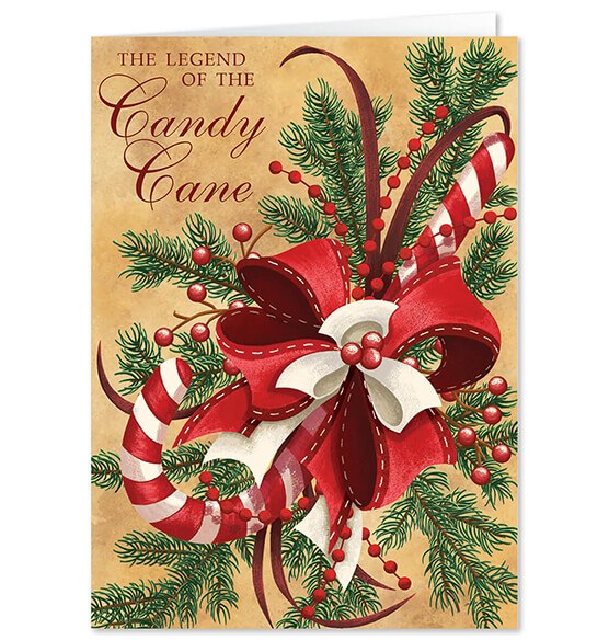 Personalized Legend of Candy Cane Scented Christmas Card