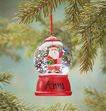 Holiday Ornaments - Personalized Santa Waterglobe Ornament