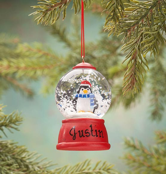 Personalized Penguin Waterglobe Ornament