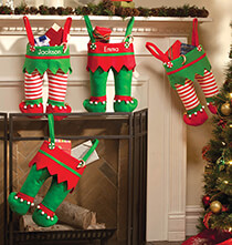 Holiday Decor - Personalized Elf Pants Stocking