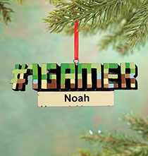 Holiday Ornaments - Personalized #1 Gamer Ornament
