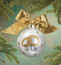 "Occasion & Themed Ornaments - Personalized ""I Do"" Glass Ball Ornament"