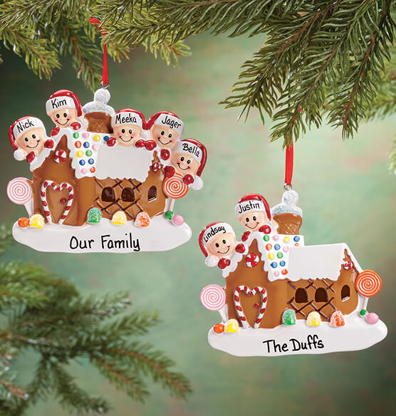 Personalized Gingerbread Family Ornament - View 1