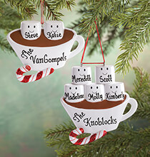 Holiday Ornaments - Personalized Hot Chocolate Family Ornament