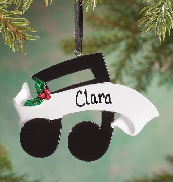 Personalized Music Note Ornament