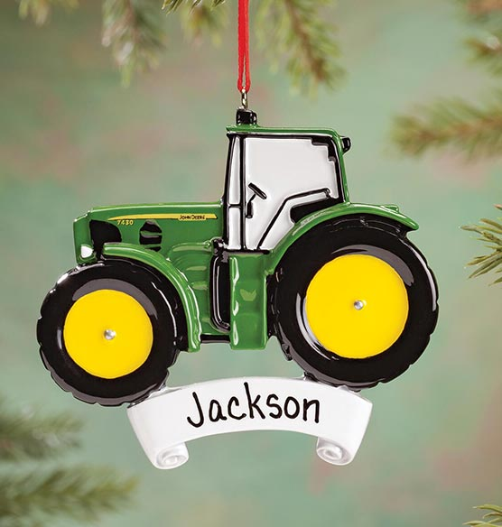 Jd Christmas Tree: Personalized John Deere Tractor Ornament