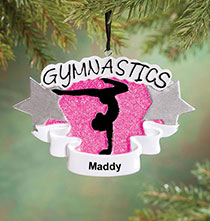 Misc. Sports - Personalized Gymnastics Ornament