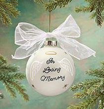 "Occasion & Themed Ornaments - Personalized ""In Loving Memory"" Glass Ball Ornament"