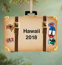 New - Personalized Suitcase Ornament