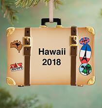 Personalized Suitcase Ornament   Plain