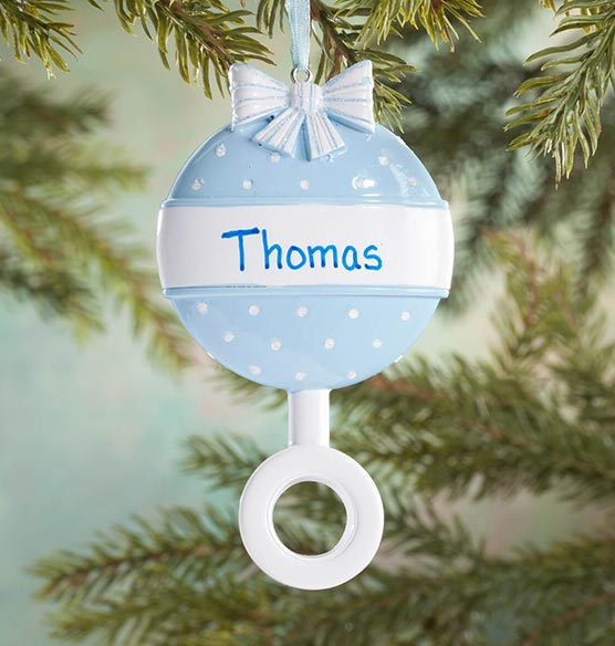 Personalized Baby Rattle Ornament