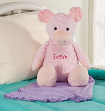 New - Personalized Stuffed Pig