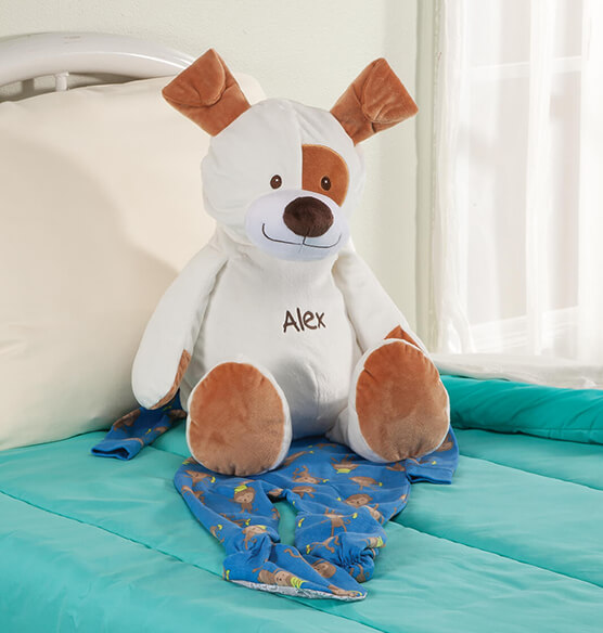Personalized Stuffed Animal Puppy Treasure Keeper