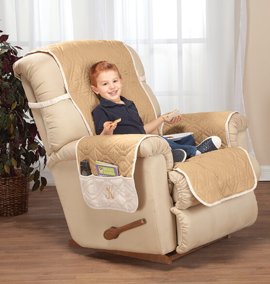 Personalized 5 Star Reversible Waterproof Recliner Cover