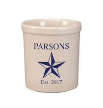 Personalized Barn Star Stoneware Crock, 1 Qt.