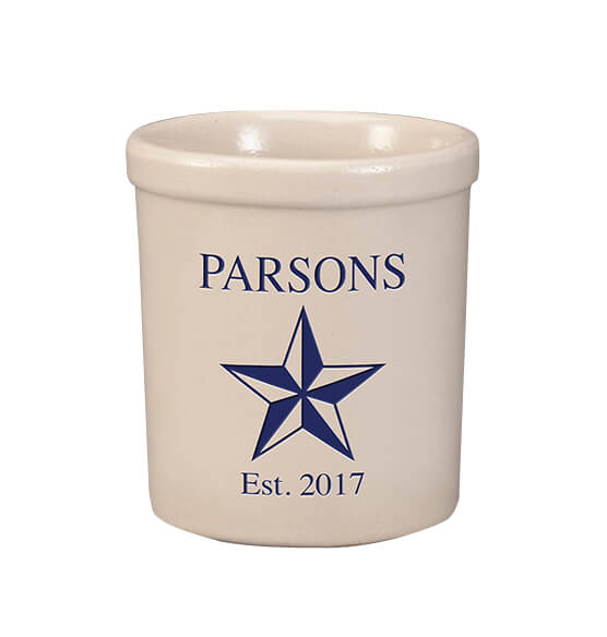 Personalized Barn Star Stoneware Crock, 1 Qt. - View 1