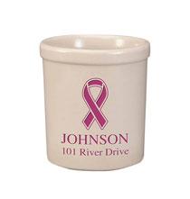 Personalized Ribbon Stoneware Crock, 1 Qt.