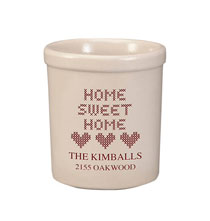 Crocks - Personalized Home Sweet Home Stoneware Crock, 1 Qt.