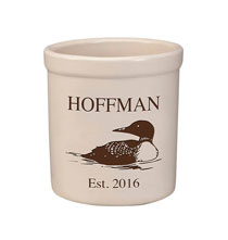 Personalized Tabletop - Personalized Loon Stoneware Crock, 2 Qt.