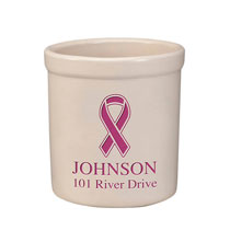 Decorative Accents - Personalized Ribbon Stoneware Crock, 2 Qt.