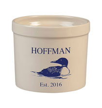 Personalized Tabletop - Personalized Loon Stoneware Crock, 3 Qt.