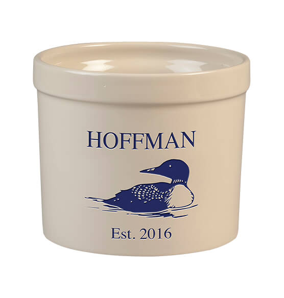 Personalized Loon Stoneware Crock, 3 Qt.