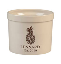 Personalized Tabletop - Personalized Pineapple Stoneware Crock, 3 Qt.
