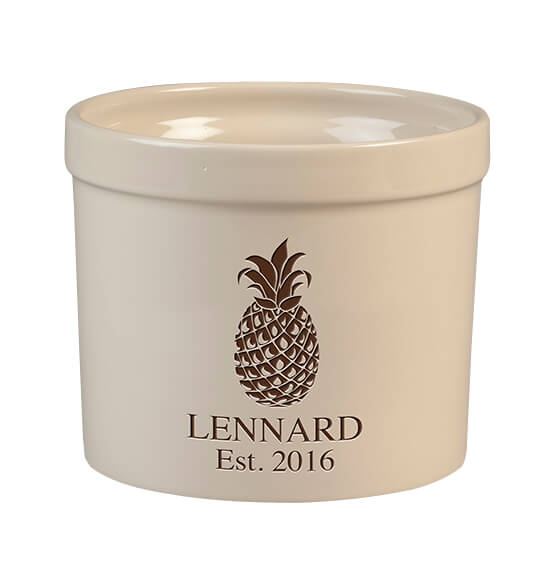 Personalized Pineapple Stoneware Crock, 3 Qt.