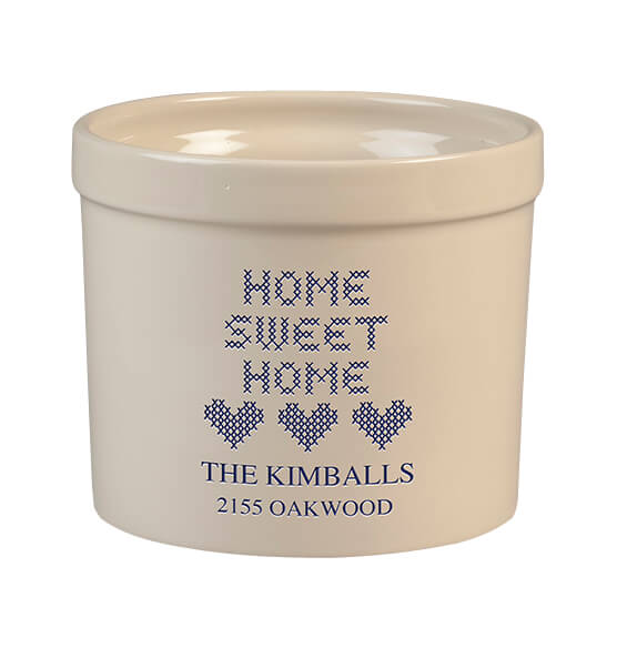 Personalized Home Sweet Home Stoneware Crock, 3 Qt.