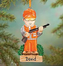 Personalized Hunter Ornament