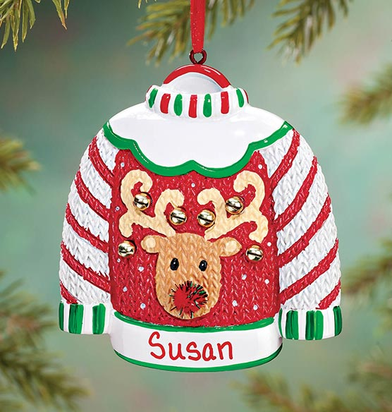 Personalized Ugly Sweater Ornament