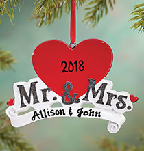 Personalized Mr. & Mrs. Ornament   Personalized