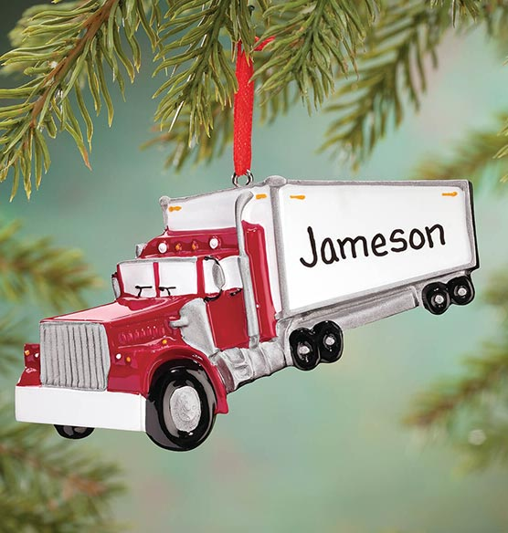 Personalized Semi Ornament