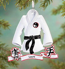 Sport Ornaments - Personalized Karate Ornament
