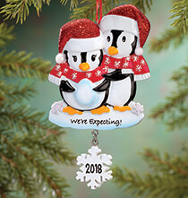 "Holiday Ornaments - Personalized ""We're Expecting"" Ornament"