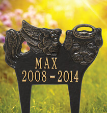 Personalized Outdoor Living - Personalized Angel Dog Pet Memorial Marker