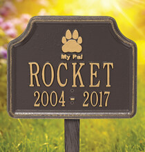 Personalized Outdoor Living - Personalized My Pal Dog Paw Memorial Marker