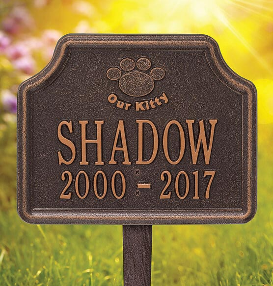 Personalized Our Kitty Cat Paw Memorial Marker
