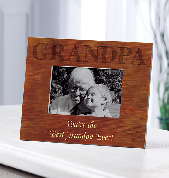 Personalized Woodgrain Grandpa Frame