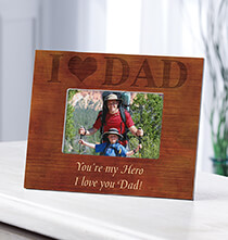 Personalized Woodgrain I Love Dad Frame