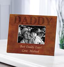 Personalized Woodgrain Daddy Frame