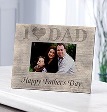 Personalized Shiplap I Love Dad Frame