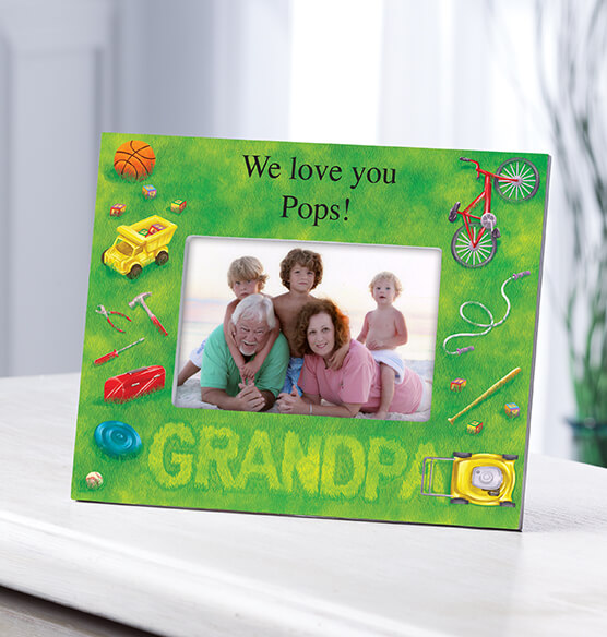 Personalized Lawn Words Grandpa Frame